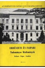 Erdészeti és Faipari Tudományos Közlemények 1986. év 2. sz. - Régikönyvek