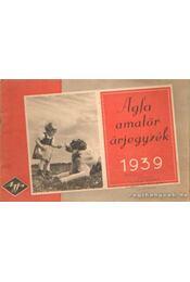 Agfa amatőr - árjegyzék 1939 - Régikönyvek