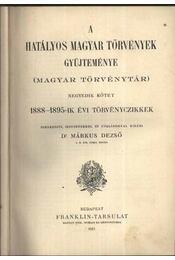 A hatályos magyar törvények gyűjteménye IV. kötet - Régikönyvek