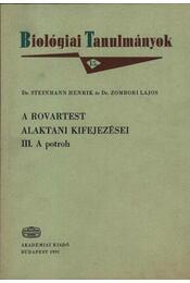 A rovartest alaktani kifejezései - III. a potroh - Régikönyvek