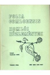 Komlói közlemények 1988. 3. - Régikönyvek
