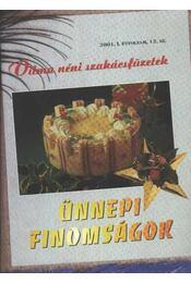 Ünnepi finomságok - Régikönyvek