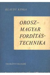 Orosz-magyar fordítási technika - Régikönyvek