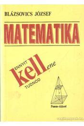 Ennyit kell(ene) tudnod matematikából - Régikönyvek