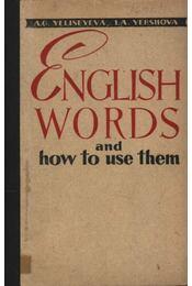 English Words and how to use them - Régikönyvek