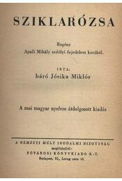 Sziklarózsa - Báró Jósika Miklós - Régikönyvek