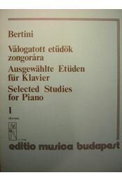 Válogatott etűdök zongorára I. - Régikönyvek