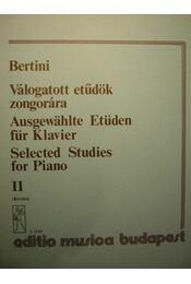 Válogatott etűdök zongorára II. - Régikönyvek