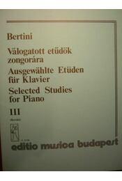 Válogatott etűdök zongorára III. - Régikönyvek