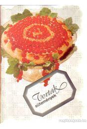 Torták sütemények - Régikönyvek