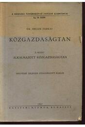 Közgazdaságtan II. - Régikönyvek