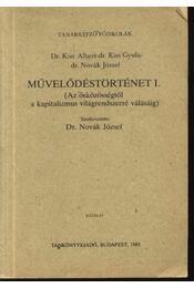 Művelődéstörténet I. - Régikönyvek