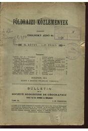 Földrajzi közlemények XL. kötet. I-IV. füzet - Régikönyvek