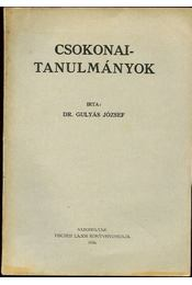 Csokonai tanulmányok - dr. Gulyás József - Régikönyvek