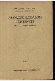 Az orosz irodalom története - Régikönyvek
