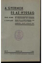A gyermek és az ifjúság 1939. 1. szám - Régikönyvek
