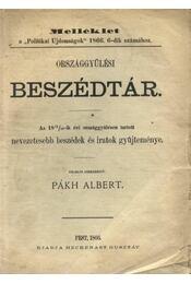 Országgyűlési Beszédtár - Régikönyvek