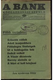 A Bank 1938. május - Régikönyvek