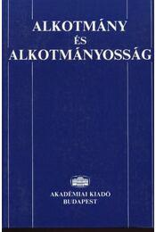 Alkotmány és alkotmányosság - Régikönyvek