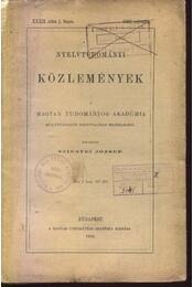 Nyelvtudományi közlemények XXXII. kötet 1-4. füzete - Régikönyvek