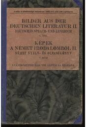 Képek a német irodalomból II. - Régikönyvek