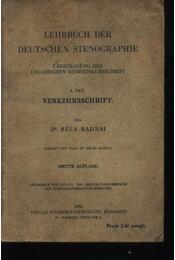 Lehrbuch der Deutschen Stenographie I. teil - Régikönyvek