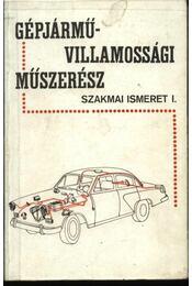Gépjárművillamossági műszerész - Régikönyvek