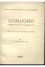 Geselligkeit - Régikönyvek