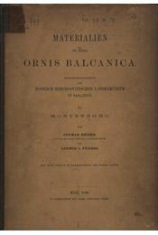 Materialien zu einer Ornis Balcanica IV. - Régikönyvek