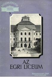 Az egri líceum - Régikönyvek
