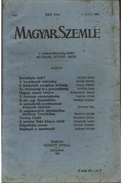 Magyar Szemle 1937. XXX. kötet 1. (117.) szám - Régikönyvek