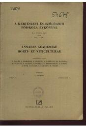 A kertészeti és szőlészeti főiskola évkönyve XX. évfolyam 1956. 1-4, 6-8 - Régikönyvek