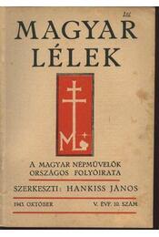 Magyar Lélek 1943. október - Régikönyvek