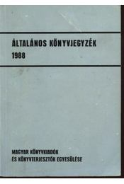 Általános könyvjegyzék 1988 - Régikönyvek