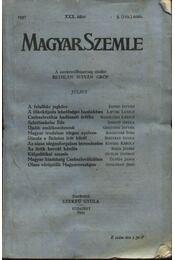 Magyar Szemle 1937 XXX. kötet 3.(119.) szám - Régikönyvek
