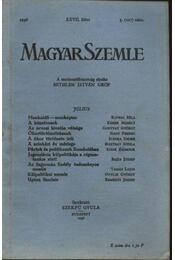 Magyar Szemle 1936. XXVII. kötet 3. (107) szám. - Régikönyvek