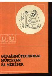 Gépjárműtechnikai műszerek és mérések - Régikönyvek
