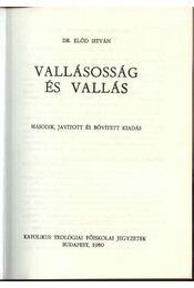 Vallásosság és vallás - Régikönyvek