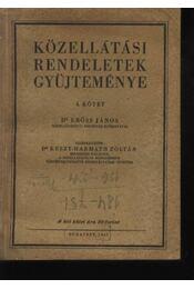 Közellátási rendeletek gyűjteménye I-II. kötet - Régikönyvek