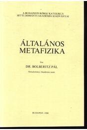 Általános metafizika - Régikönyvek