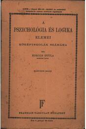 A pszichológia és logika elemei - Régikönyvek