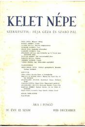 Kelet népe IV. évfolyam, 12. szám - Régikönyvek