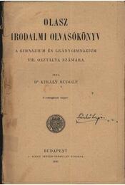Olasz irodalmi olvasókönyv a gimnázium és leánygimnázium VIII. osztálya számára - Régikönyvek