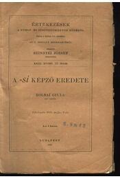 A -si képző eredete - Régikönyvek