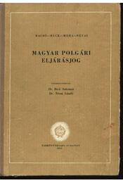 Magyar polgári eljárásjog - Régikönyvek