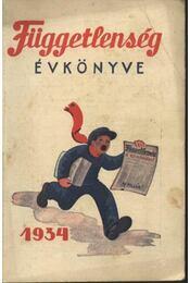Függetlenség évkönyve 1934 - Régikönyvek