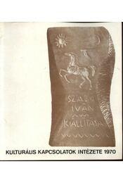 Kulturális kapcsolatok intézete 1970 - Régikönyvek