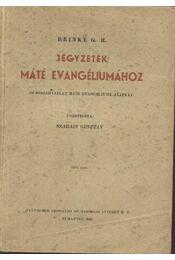 Jegyzetek Máté evangéliumához I. rész - Régikönyvek