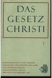 Das Gesetz Christi I-III. - Régikönyvek