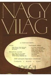 Nagyvilág 1956/1. - Régikönyvek
